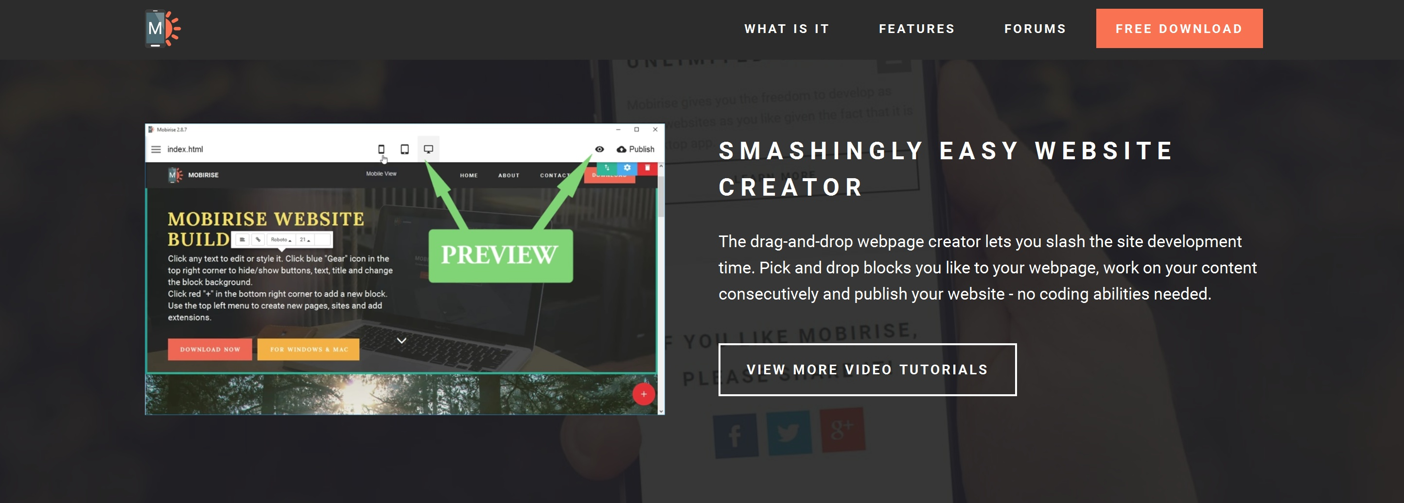 Fast and Simple Website Creator Software