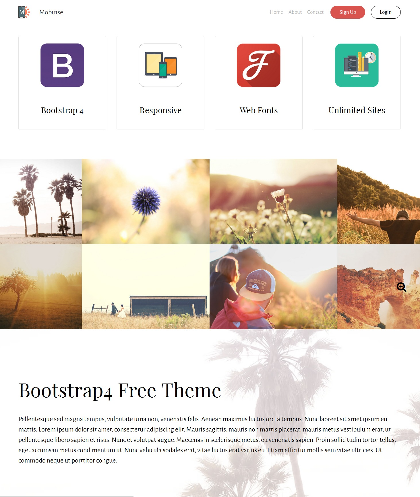 HTML Bootstrap Image Gallery Theme