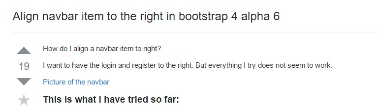 Coordinate navbar  thing to the right  within Bootstrap 4 alpha 6