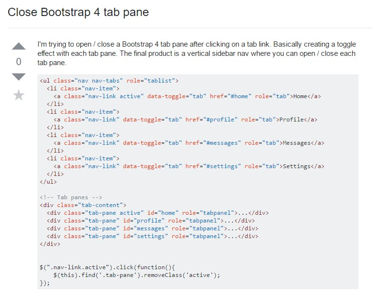 The best ways to  shut Bootstrap 4 tab pane