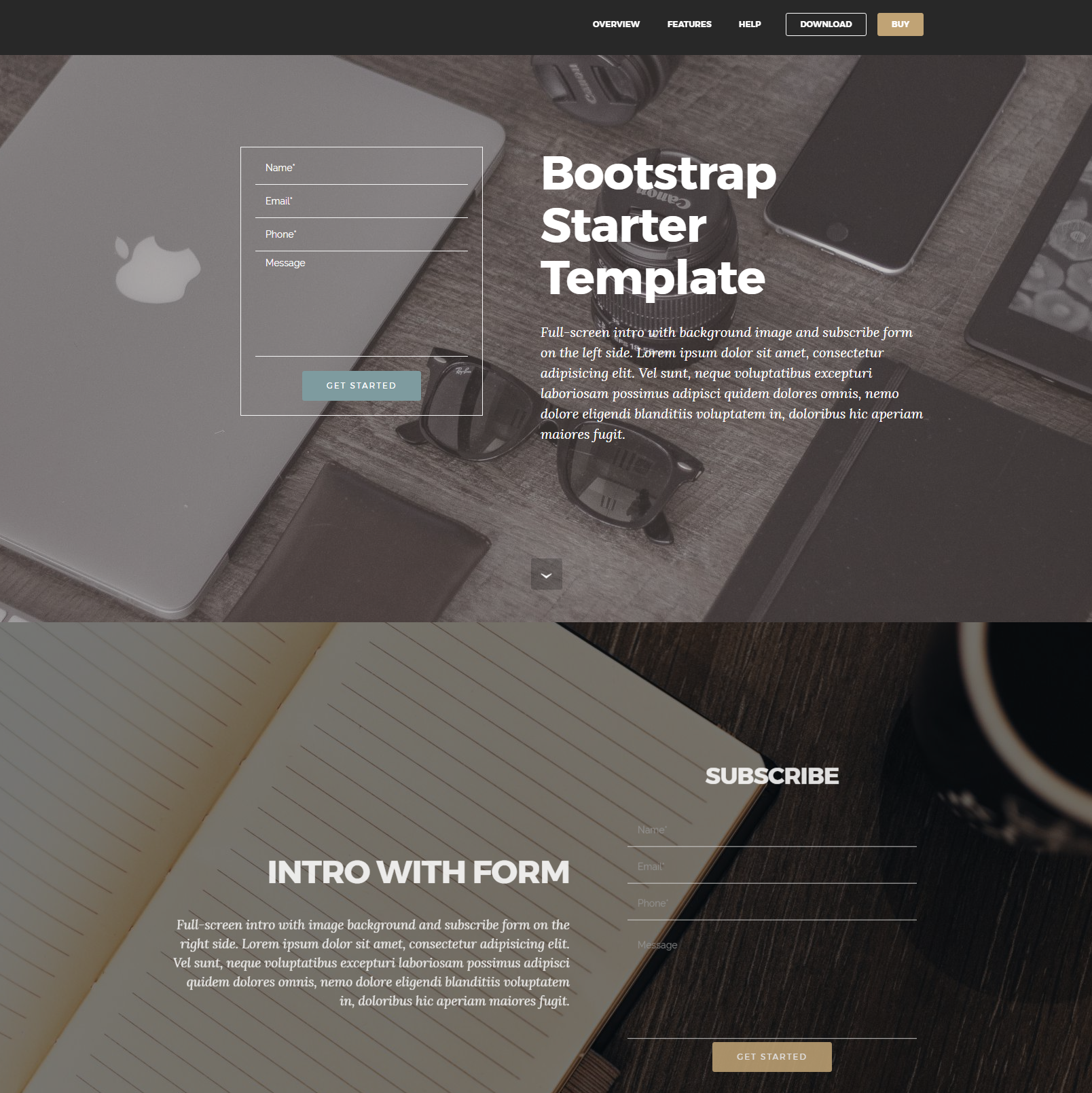 Free Bootstrap Starter Templates