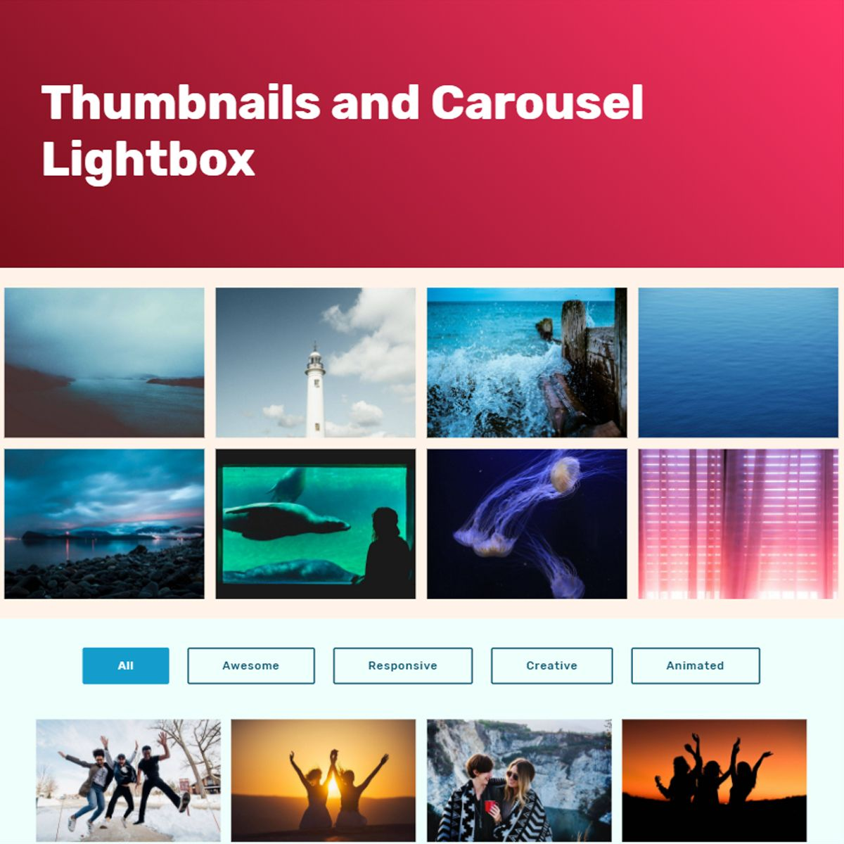 jQuery Bootstrap Photo Carousel