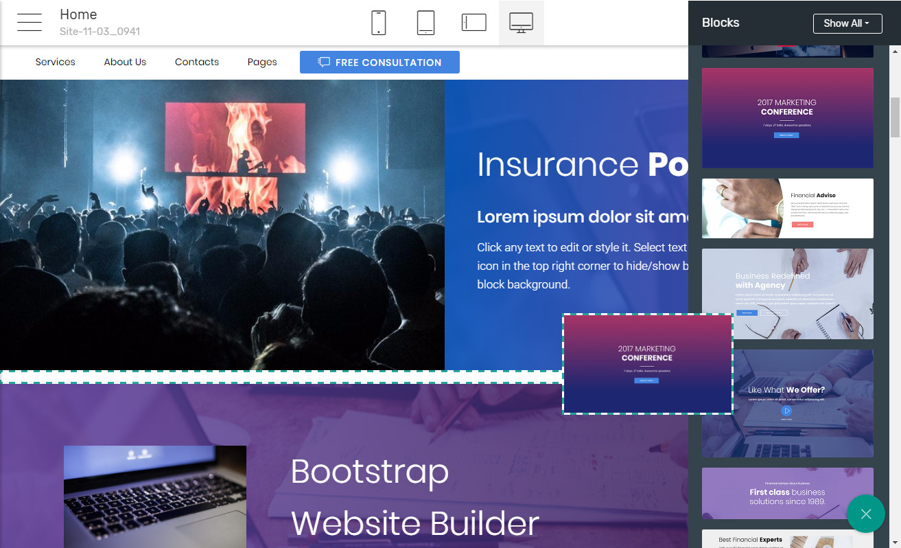 Bootstrap Page Maker