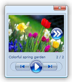 open javascript popup center change window photo album slideshow speed