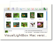 Web Photo Gallery Mac version - Main Window